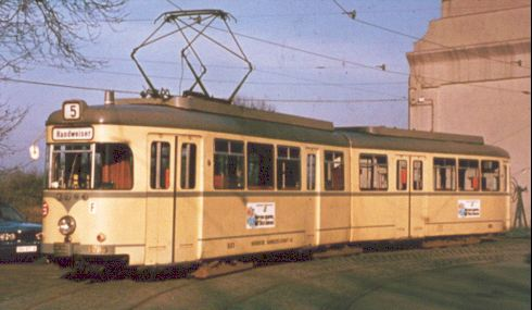 Duewag articulated tramcar